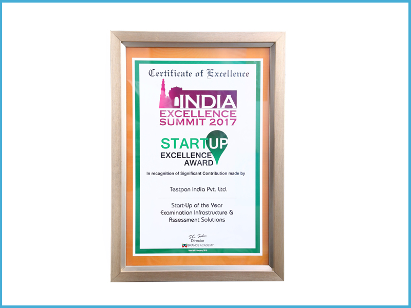 Startup Excellence Award by Brands Academy-2017